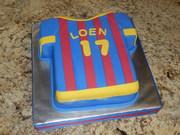 Jersey Cake for a Barcelona Fan