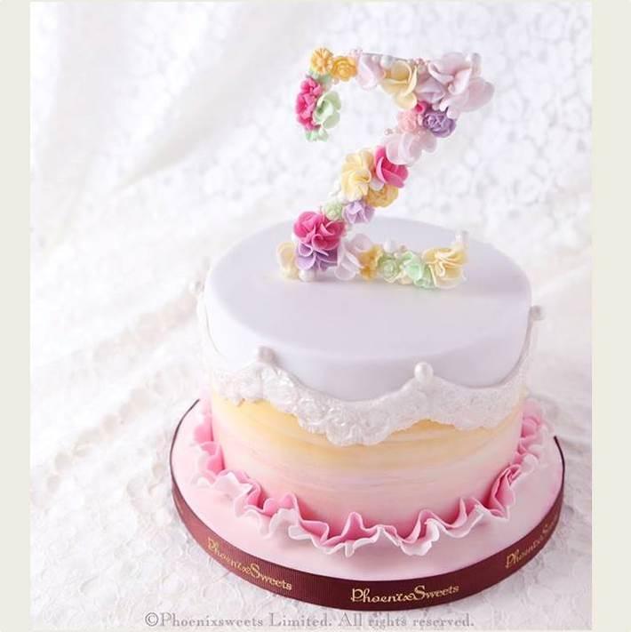 Phoenix Sweets - Letter Z Fondant Cake