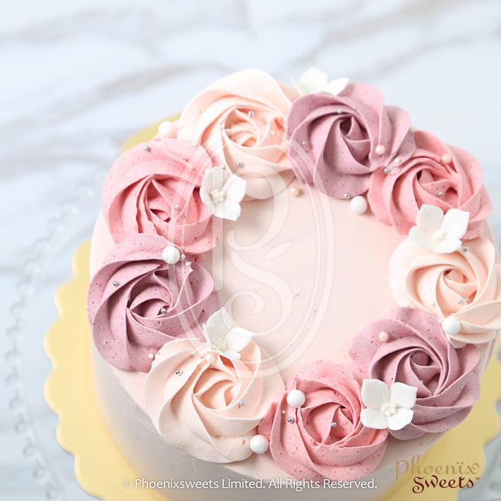 Phoenix Sweets - Rose Swirl Butter Cream Cake