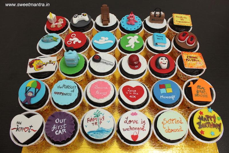 Enjoyable 30 Customized Designer Cupcakes For A Husbands 30Th Birthday Funny Birthday Cards Online Elaedamsfinfo