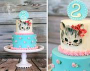 Vintage Kitten Cake