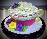 Fancy Tea cup cupcake cake