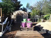 Gravel washing set up