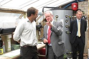 Environment minister visits moffat aquaponics system (was running sooo late and ended up gettng changed in the car while driving - (not to be recommended)