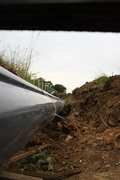 160mm waste pipe to polytunnel