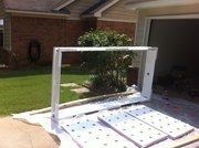 Trough and rafts painted