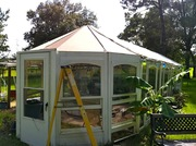 Front with shade cloth