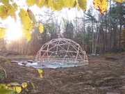 Sunrise on the new dome