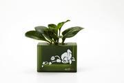 積木組合花盆-綠