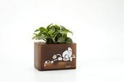 積木組合花盆-咖啡