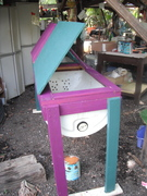 Worm Bin with new coat of paint