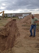 Excavation for geothermal lines