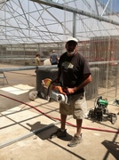 Rick Garcia ready to saw cut concrete
