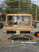 Greenhouse build on house foundation