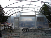 Greenhouse build wall 2