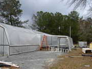 Side view of greenhouse lean-to
