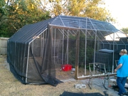 PVC greenhouse 24ft x 26ft almost done