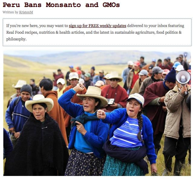 GMO's make headlines again.