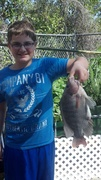 Went fishing in the back yard!