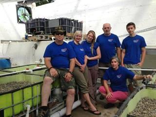 Aquaponics Mission Team at Worldwide Heart to Heart Children's Village, Honduras