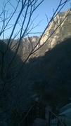 Waterfall 1 Noon shadow in Nov