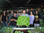 Mesa Community College Aquaponics Class First Harvest Ready FAll 2015