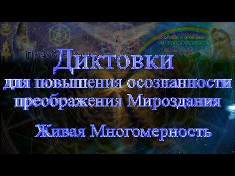 Диктовки для повышения осознанности преображения Мироздания. 32. Живая Многомерность