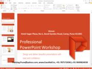 Professional PowerPoint Training in Pune