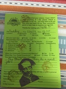 Car Wash Comment Card