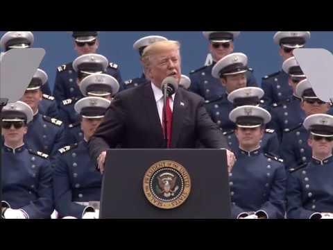 President Trump addresses the USAFA graduating class of 2019