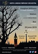 North London Symphony Orchestra: Bax, Walton and Vaughan Williams