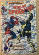 **SOLD**Stan Lee Signed Web of Spiderman Comic Book signed at the Roosevelt Hotel on Nov. 21, 2000. COA & Lifetime Guarantee from Steve Cyrkin- $97 +$4 S&H US