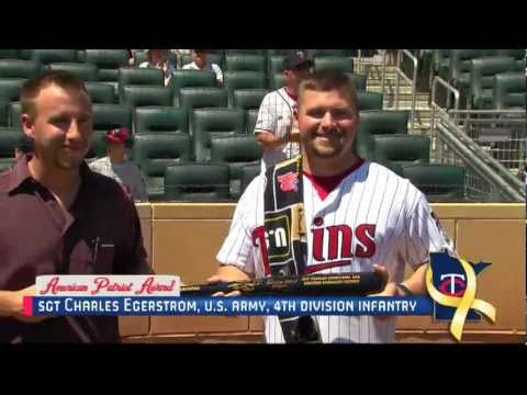 Honor Presentation at MN Twins game on July 4th