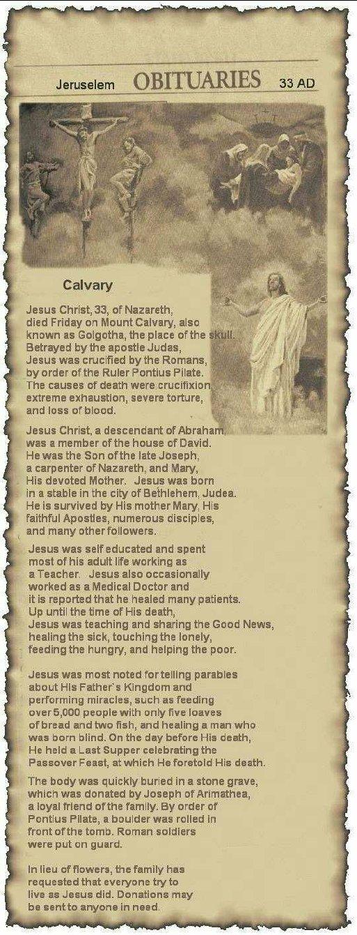 Easter's Obituary