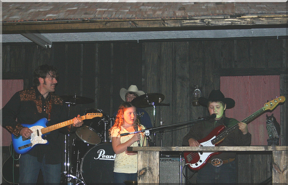 Jayc Harold @ Jessee on the drums, Robin singing and Coltin on Bass