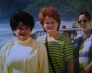 my sisters and me on an Alaskan cruise 2001