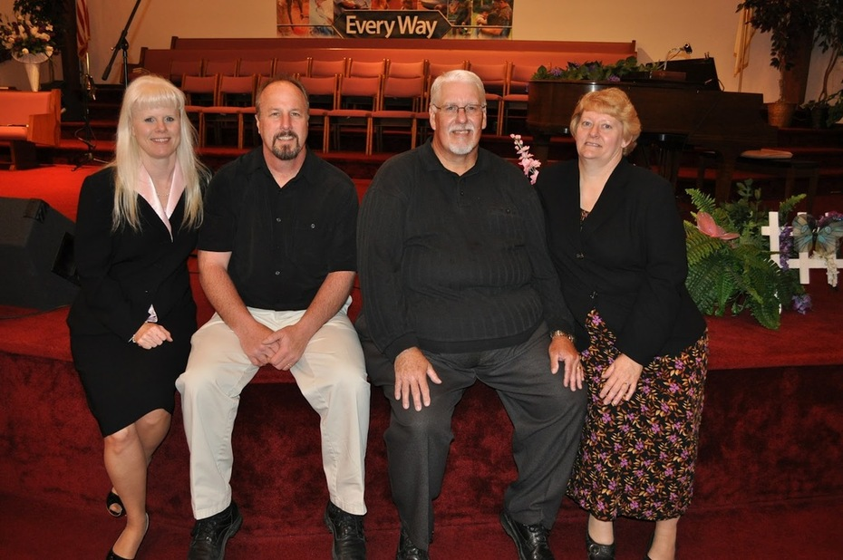 My wife Jeri, me, lead guitarist - Russ W. and his wife Vera