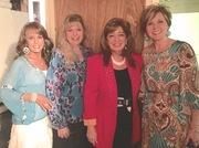 Shirley,  SuAnn Clark, Mary Fay, Denise McCay backstage at Ozark Mtn Theater
