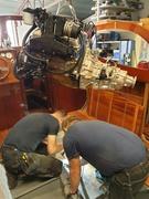 Nyrenoverad 350 + hydraliskt Borg Warner slutmonteras i Ran