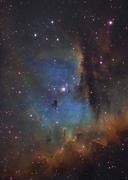 NGC281 The Pacman nebula (Hubble palette)