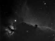 IC434 - The Horse Head and SH2-227 - The Flame Nebula in Ha
