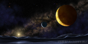 Hydras POV of Pluto, Charon and Nix