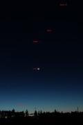 Venus, Mars, Jupiter, Moon and Mercury conjonction