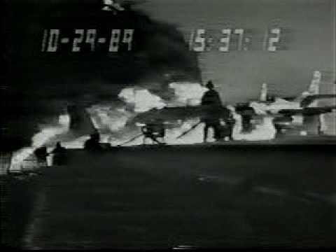 Navy Flight Student Crash, deck crew response