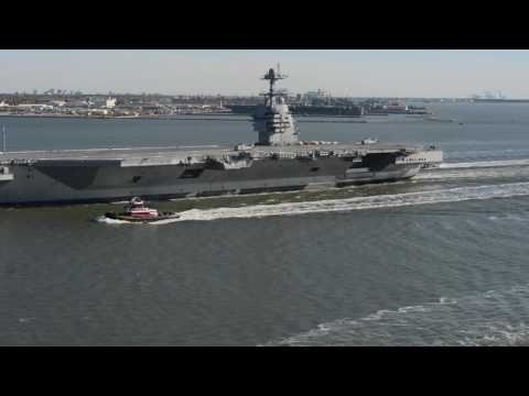 Future USS Gerald R. Ford Underway for Builder's Sea Trials