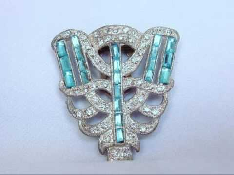 Vintage Hollywood Glamour Art Deco Jewelry
