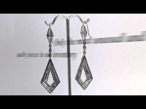 Platinum Diamond Dangle Earrings Platinum Earrings