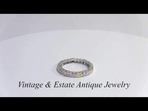 Eternity Diamond Ring  - Engagement ring - Wedding Ring