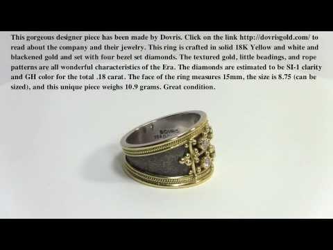 Dovris Etruscan Ring - Diamond Ring - Dovris Designer Ring
