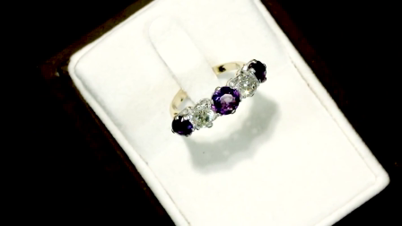1.30 ct Amethyst and 0.84 ct Diamond, 18 ct Yellow Gold Dress Ring - Antique Circa 1910